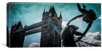 Tower Bridge splash, Canvas Print