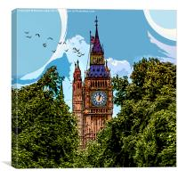 GTA London Baby!, Canvas Print
