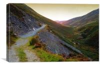 Mountain walks, Canvas Print