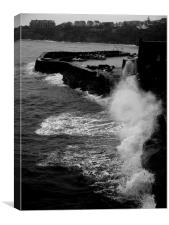 waves in Crail, Canvas Print
