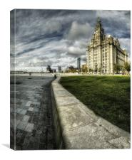 LIVER BUILDING AND WATERFRONT, Canvas Print