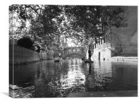 The River Cam, Cambridge, Canvas Print