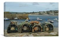 Pots from St Michaels Mount, Canvas Print