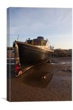 Stranded at Blakeney, Canvas Print