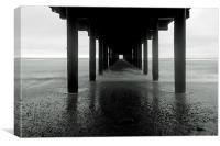 Under Southwold Pier, Canvas Print