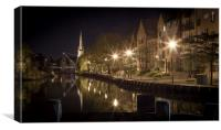 Riverside, Norwich at Night, Canvas Print