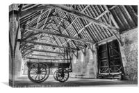 Wagon in the Barn, Canvas Print
