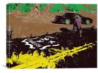 oatman arizona route sixty six, Canvas Print