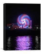 santa monica  pier at night, Canvas Print