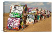 Cadillac ranch, Canvas Print