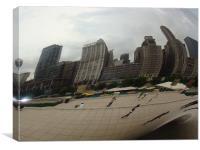 chicago thru reflection, Canvas Print