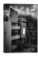 The old post office box, Canvas Print