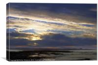 Sun set over coast, Canvas Print