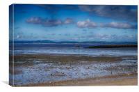 Lone Boat Morecambe Beach, Canvas Print