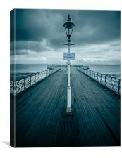 Penarth Pier No Fishing, Canvas Print
