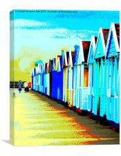 Southwold Beach Hut Ladies, Canvas Print