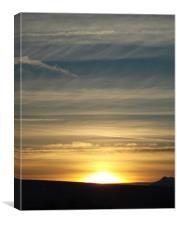Sunset Lonscale Fell, Canvas Print