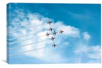 The Red Arrows Display, Canvas Print
