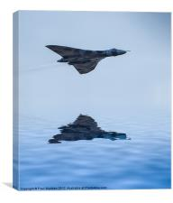 Vulcan Bomber Over The Water, Canvas Print