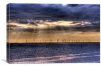 Storm over the windfarm, Canvas Print