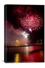 Southport Musical Fireworks Red, Canvas Print