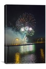 Southport Musical Fireworks show, Canvas Print