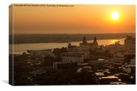 Summer sunset over Liverpool, Canvas Print