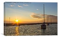 Hightown beach sunset, Canvas Print