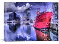 Canning Dock HDR, Canvas Print