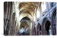 Chester Cathedral Interior, Canvas Print