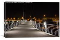 Millennium bridge Lancaster, Canvas Print