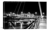 Millennium Bridge - Lancaster - Monochrome, Canvas Print
