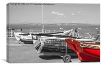Morecambe Bay Boats, Canvas Print