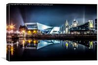 Museum Of Liverpool And Liver Building, Canvas Print