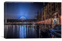 Liverpools Albert Dock at night, Canvas Print