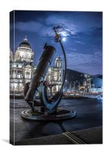 Telescope at the Pier Head, Canvas Print