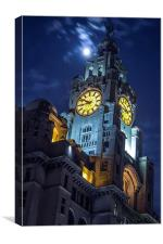 Top of the tower at Liverpool, Canvas Print