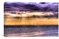 Irish Sea Wind Farm, Canvas Print