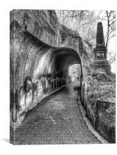 Spooky tunnel, Canvas Print
