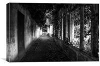 Corridor through the past, Canvas Print