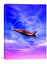 Red Arrows Love, Canvas Print