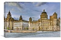 The Three Graces Of Liverpool, Canvas Print