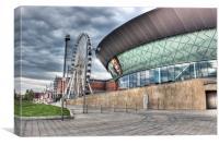 Liver Echo Arena and big wheel, Canvas Print