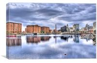 Salthouse Dock Liverpool HDR, Canvas Print