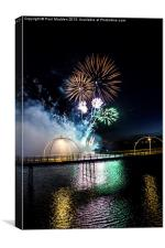 Southport Musical Fireworks, Canvas Print