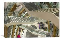 Liverpool Library Staircase, Canvas Print
