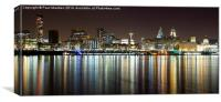 Liverpool skyline in the night, Canvas Print