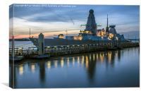 HMS Dragon, Canvas Print