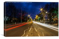Car lights on Lord Street, Canvas Print