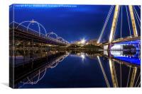 Two Southport Bridges, Canvas Print